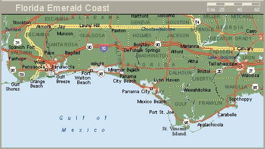 Greater Panama City Area of The Florida Emerald Coast